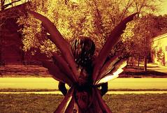 (Refidnas) Tags: sculpture film kodak f11 yashica chapelhill untitled yashicaelectro35gsn electro35 kodak400hd redscale epsonv500
