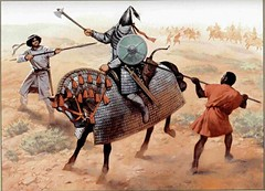 Persian vs Muslims (cool-art) Tags: century war iran spears african muslim islam iraq ad persia arab rise defeat 7th armored peasants mesopotamia conquest sassanid