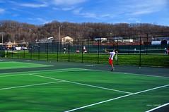 DSC_0333_e (setao86) Tags: college sports sport court athletic teams team athletics university nick highlander tennis racket tenniscourt radforduniversity