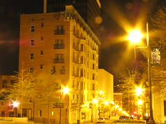 downtown lynchburg (moe4268) Tags: street city building lamp night dark lights evening downtown lynchburg va junephotochallenge