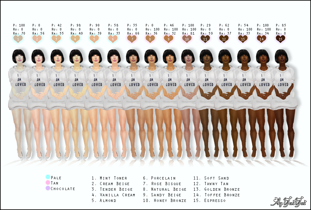 skin color chart: Jewelry about you color gallery of hair color chart skin tone