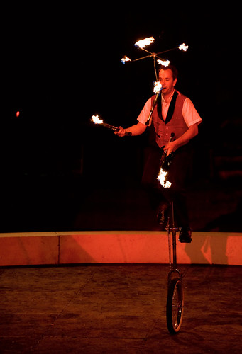 unicycle-and-fire