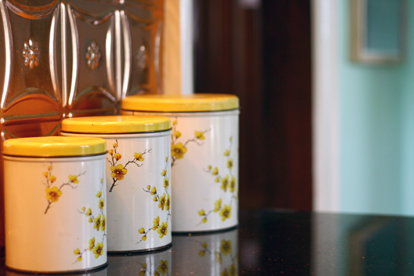 Yellow Canister Tins