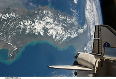 Shuttle Endeavour Over Earth (NASA, International Space Station, 05/19/11) (NASA's Marshall Space Flight Center) Tags: italia earth nasa spaceshuttle spacewalk endeavour gargano internationalspacestation stationscience crewearthobservation stationresearch