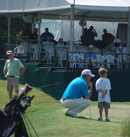 A pro golfer and a St. Jude patient at the FedEx St. Jude Classic
