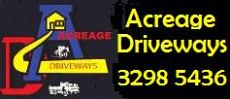 Acreage Driveways - handling your landscaping, earthworks, materials and cartage needs!