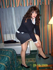 Sexy Secretary Look (Veronica Mendes (formerly Toni Richards)) Tags: black sexy office tv high cd skirt transgender wig short transvestite heel brunette secretary stiletto crossdresser ts tg transsexual