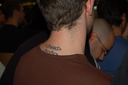 The BEST geek tattoo! by Robert Nyman, on Flickr