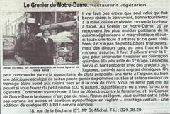 Le Grenier de Notre Dame