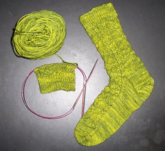 One Croc Sock Finished