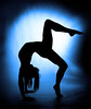 Arctic blue (Rune T) Tags: blue woman black silhouette contrast pose pattern dancer gymnast backlit limber