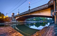 image (der_makabere (Cornel Putan)) Tags: bridge wallpaper reflection water photoshop canon river eos iso100