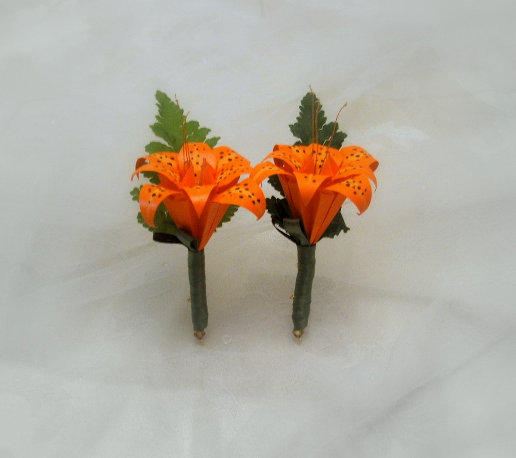 Tiger Lily Boutonnieres
