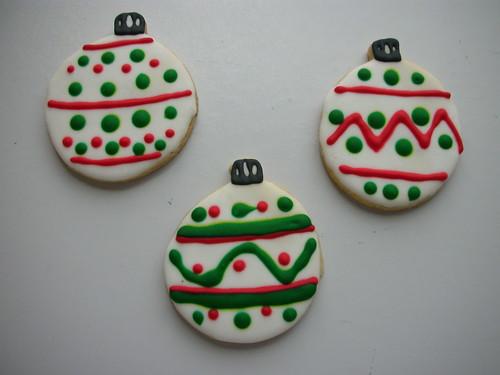 Cookie bola de Natal