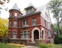 Iroquois St, Detroit (southofbloor) Tags: old house tower architecture village indian detroit mansion turret slumpy oldslumpy sonofslumpy