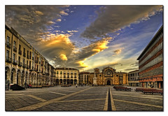 Plaza del Mercado Grande (Project17) Tags: plaza atardecer grande san iglesia pedro mercado hdr avila
