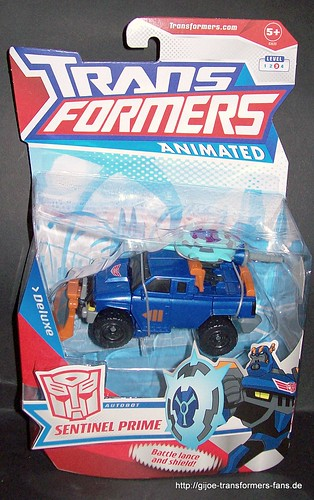 Sentinel Prime Animated Deluxe Transformers 001