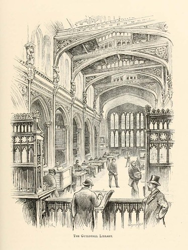 023-La libreria Guildhall- London pictures drawn with pen and pencil 1890-Richard Lovett