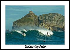 Postcards from Euskadi Bakio Bizkaia (Asi75er) Tags: travel blue sea sun beach sport photoshop canon eos mar surf elements olas bizkaia euskalherria euskadi vizcaya basquecountry paisvasco bakio photoshopelements sanjuandegaztelugatxe 400d canoneos400d platinumheartaward ±100aшαrđzorlessthan«500»♥crazy♥comments