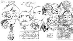 Torino, 14 gennaio 1996. Lapone ritrare il direttivo di Anonima Fumetti: Antonio Lapone, Pietro Di Legami, Andrea Lioy, Giorgio Figus, Franco Fossati, Vittorio Pavesio e Gianfranco Goria.