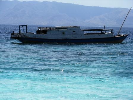 Indonesia-Alor-The boat to Kepa Island... Free ride Woohoo!