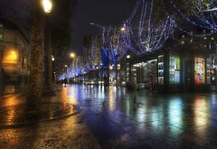 Impressions of Paris (Stuck in Customs) Tags: world christmas street travel november sky people urban paris france color art wet lamp seine architecture night digital walking photography design blog high nikon europe dynamic stuck capital culture planning shops string imaging lamps top100 range hdr trey travelblog customs 2007 boutiques shoppes cityoflight ratcliff d2xs stuckincustoms regionparisienne iledefrance region lavillelumiere