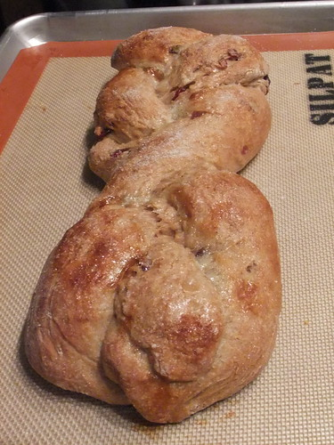 Whole Wheat Challah w/ Cranberries