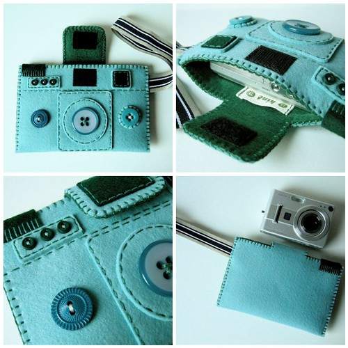 Camera Camera Case 'Holgy' (winter turquoise) by hine.