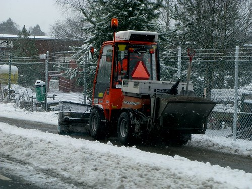 Bike Lane Snowplow in Höör Sweden