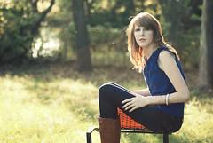 This Day Will Never Happen Again. (Aubirdy) Tags: autumn portrait sunlight macro fall girl beauty fashion sparkles female lens photography pond chair backyard nikon pretty dof seasons bokeh 90mm d60 bokehlicious aubirdy bokehrama