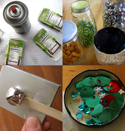 supplies needed to make your own New Year's Eve noise makers