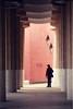 Between Column A & Column B ([Katsumi]) Tags: barcelona park trip travel pink windows light red vacation architecture spain europe shadows columns abroad gaudi guell overseas superaplus aplusphoto