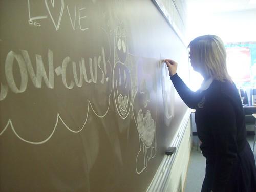 Calculus (redkaratz) Tags: sarah cow chalk class doodle math calculus chalkboard