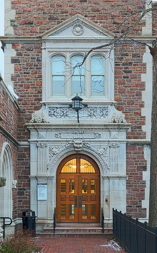 Washington University, in Saint Louis, Missouri, USA - Adolphus Busch Hall doorway