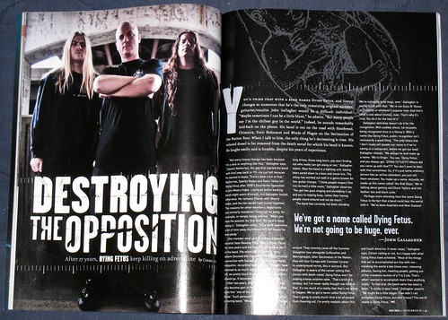 dying fetus shot in decibel