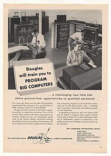 Cursos de programación de computadoras para aviación (1957)