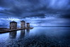 the windmills of her mind (helen sotiriadis) Tags: blue sea sky seascape water stone clouds canon mom landscape island boat published mother windmills greece chios canonefs1022mmf3545usm canoneos40d toomanytribbles eikoneselladas