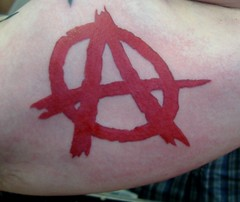 anarchy in New Albany (Billy Whaley Tattoo) Tags: new red men tattoo ink arm kentucky manly badass indiana albany anarchy billy louisville custom asgard religeous whaley