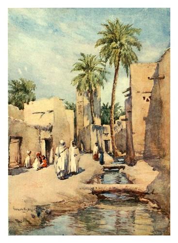 012-Una calle del pueblo en Biskra-Algeria and Tunis (1906)-Frances E. Nesbitt