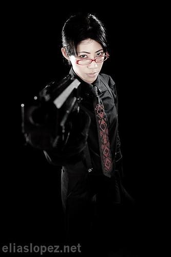 Annie with Gun