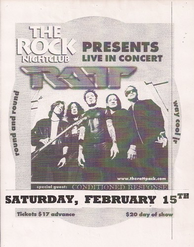02/15/03 Ratt/Conditioned Response @ Maplewood, MN (Flyer)