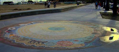 Chumash Circle Mosaic Cabrillo Sidewalk