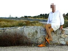 suntan pantyhose with shorts and mules (Trendy2010) Tags: summer sundown 2009 suntanpantyhose shortsandmules