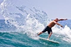 Superman (konaboy) Tags: hawaii surf surfer contest surfing spray superman cape bigisland kona keiki kailuakona kellyslater 6737 banyans shanedorian keikiclassic