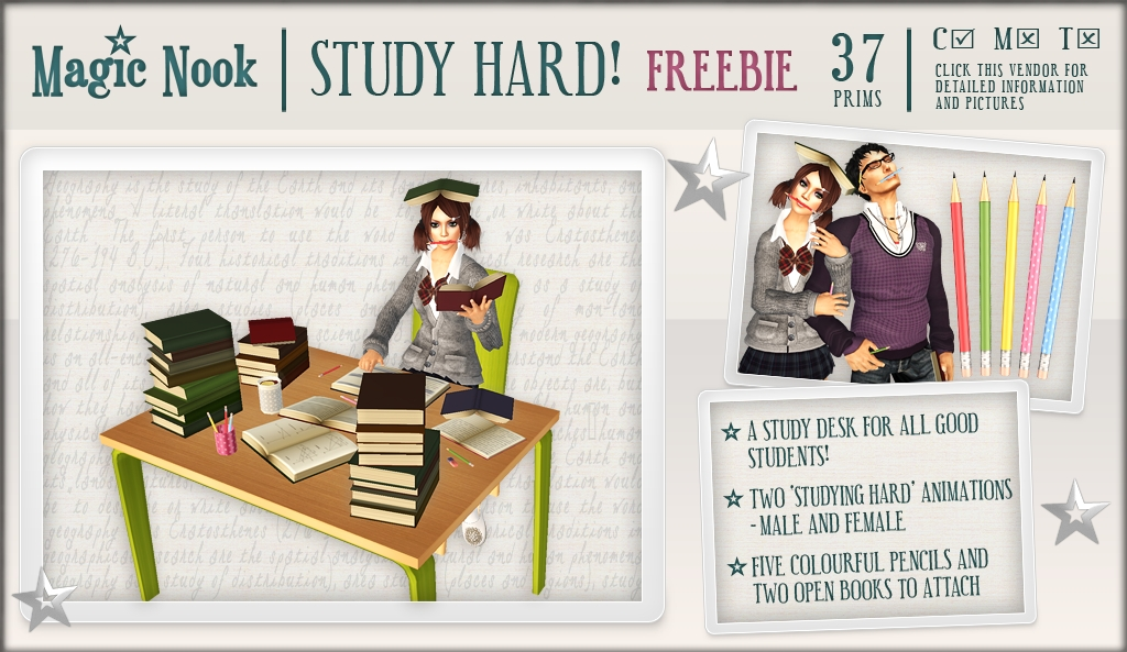 [MAGIC NOOK] Study Hard! /FREEBIE/