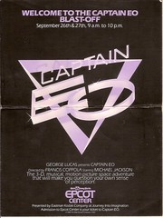 Captain EO Blast off flier front