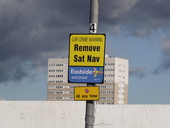 Remove Sat Nav - Car Crime Warning - sign in Eastside, Birmingham