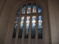 stainglass at the war memorial