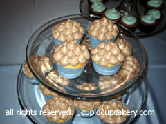 Vanilla Cupcakes with Chocolate Mint Frosting by Cupid Cupcakery (Cupid Cupcakery) Tags: blue wedding brown cupcakes cleveland cupcake weddingcupcakes cupcakeweddingcake dessertbar cupcakebar weddingcupcakestand weddingcupcaketower weddingcupcaketier cupidcupcakery glassstands clevelandcupcakeweddingcake clevelandweddingcupcakes cupidcakecompany