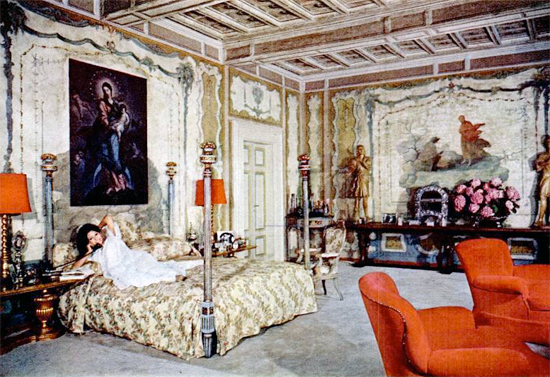 Sophia Loren's Bedroom (Rome, 1964)